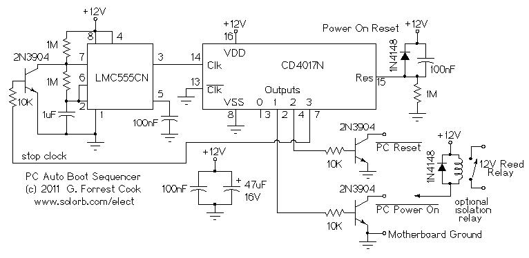 Pc Automatic Power On Circuit