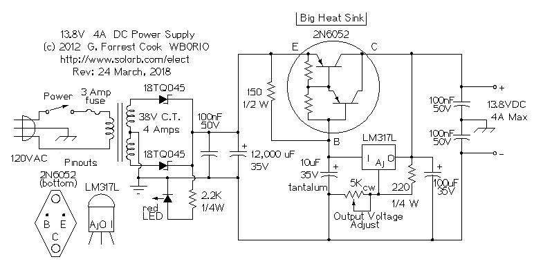 13 8v Power Supply Schematic - Smart Wiring Diagrams •