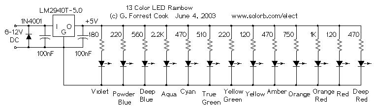 13 color led rainbow rh solorb com LED Light Fixture Wiring Diagram LED Light Fixture Wiring Diagram