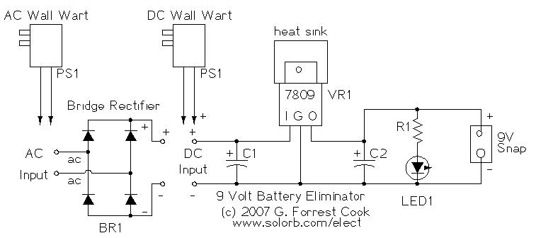 9Vbatelim1 nine volt battery eliminator Basic Electrical Wiring Diagrams at mifinder.co