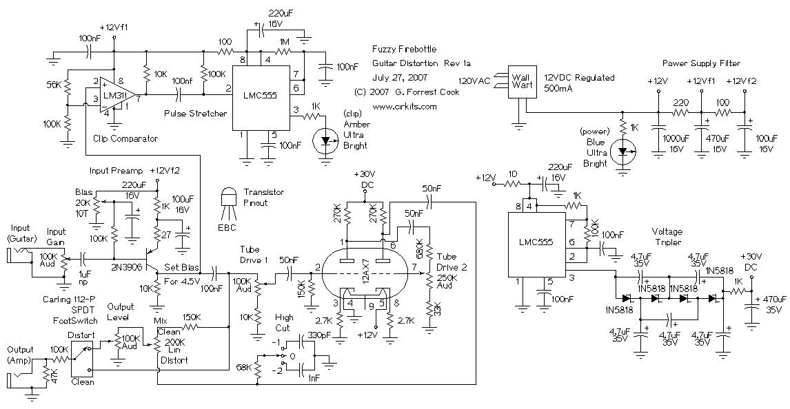 Firebottle on vacuum tube amplifier schematics