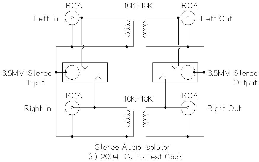 Stereo Audio Isolatorrhsolorb: Audio Ground Loop Isolator At Gmaili.net