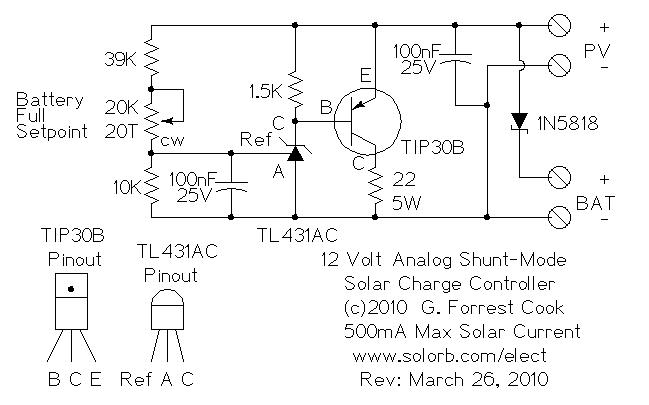 Analog shunt mode 12v 500ma solar charge controller analog solar shunt mode charge controller schematic asfbconference2016
