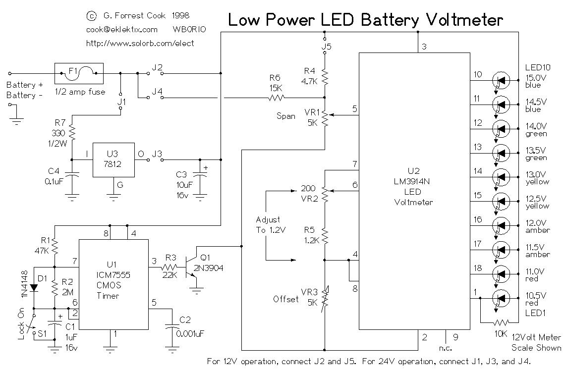 how to make a voltmeter circuit